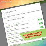 Aufgabenvorlagen mit Deinem Team teilen
